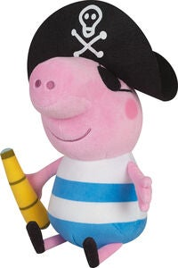 Peppa Wutz in Piratenkostüm, Rosa/Schwarz/Blau