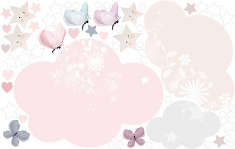 Schmooks Wallsticker Extra Sleepy Moon, Pink