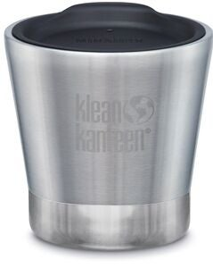 Klean Kanteen Insulated Tumbler Thermosbecher Mit Deckel 237ml, Brushed Stainless