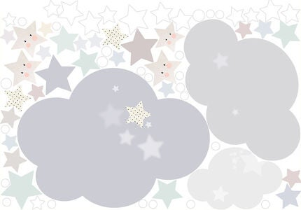 Schmooks Wallsticker Extra Sleepy Moon, Blue