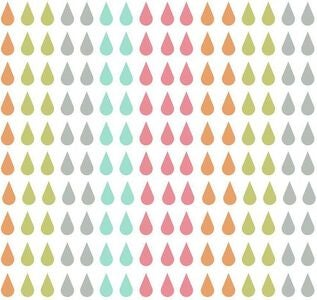 RoomMates Wallstickers, Pastel Raindrop