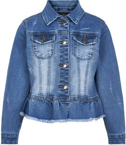 Creamie Denim Jeansjacke, Light Blue Denim