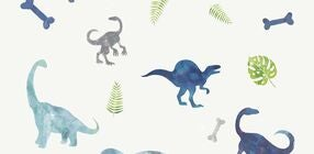 RoomMates Wallstickers Watercolour Dinosaurs
