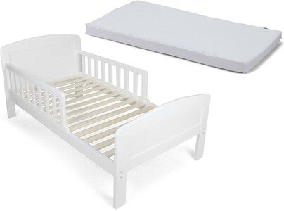 JLY Dream Juniorbett Mit BabyMatex Matratze Softi Plus 70x140, Weiß