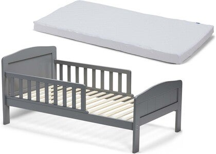 JLY Dream Kinderbett Mit BabyMatex Matratze Softi Plus 70x140, Grau