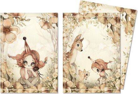 Mrs Mighetto Karten 2er-Pack The Floral Glade 10x15