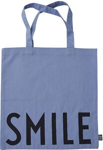 Design Letters Favourite Stoffbeutel Smile, Blue