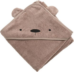 Sebra Badecape Milo The Bear, Rustic Plum