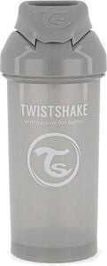 Twistshake Trinkhalmbecher 360 ml 6+ m, Pastel Grey