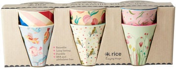 Rice Becher Melamin Klein Choose Happy 6er-Pack, Rosa/Blau