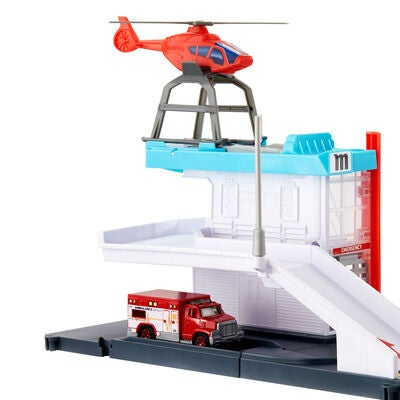 Matchbox Action Drivers Spielset Helikopter