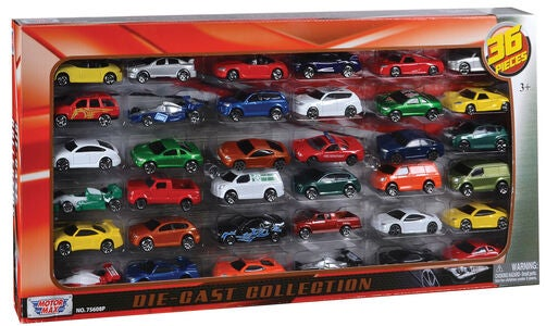 Motormax Die-Cast Collection Autos 36er-Pack