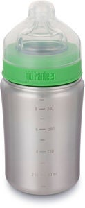 Klean Kanteen Trinkflasche Medium Flow Nipple 266ml, Brushed Stainless