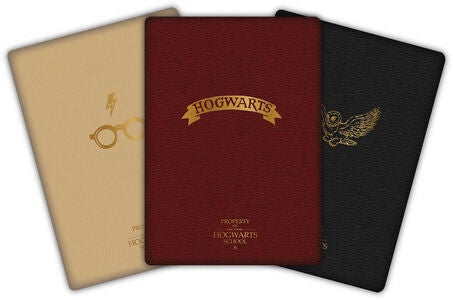 Harry Potter Notizbuch 3er-Pack