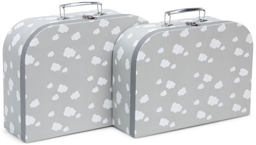 Cloudberry Castle Pappkoffer 2er-Pack, Soft Grey