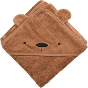 Sebra Badecape Milo The Bear, Sweet Tea Brown