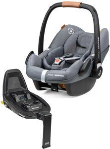 Joolz Maxi-Cosi Pebble Pro i-Size Babyschale Inkl. Family Fix 3 Basis, Grey