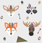 RoomMates Wallstickers, Woodland Animals