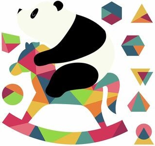 RoomMates Wallstickers Panda Nursery