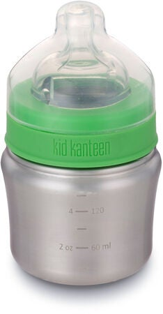 Klean Kanteen Trinkflasche Slow Flow Nipple 148ml, Brushed Stainless
