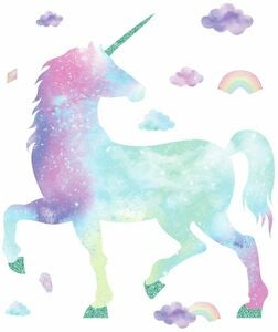 RoomMates Wallstickers Galaxy Unicorn