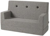 KlipKlap Kids Sofa, Multi Grey
