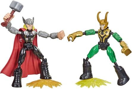 Marvel Avengers Bend And Flex Figur Thor vs Loki