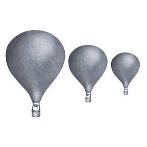 Stickstay Wallsticker Balloon Set, Dark Blue