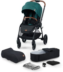 Kinderkraft Evolution Cocoon Kombikinderwagen, Midnight Green