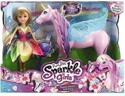 Sparkle Girlz Puppe Fee mit Einhorn Set