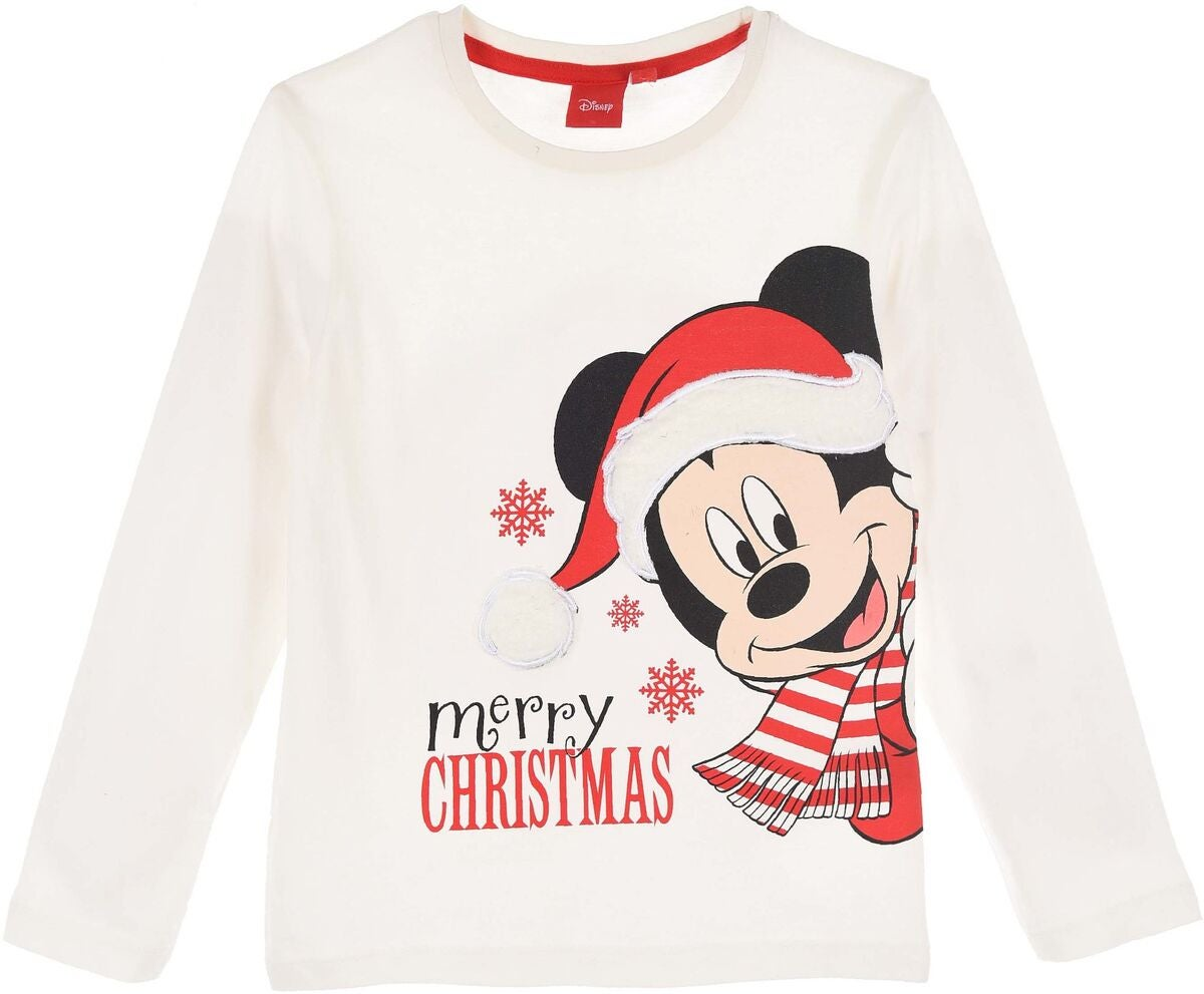 Disney Mickey Mouse Langärmliges T-Shirt, Off White
