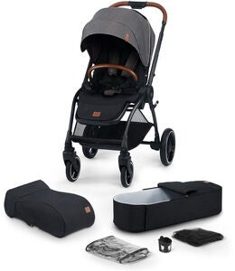 Kinderkraft Evolution Cocoon Kombikinderwagen, Platinum Grey