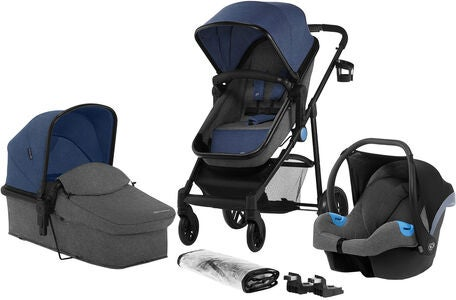 Kinderkraft JULI 3-in-1 Kombikinderwagen, Denim