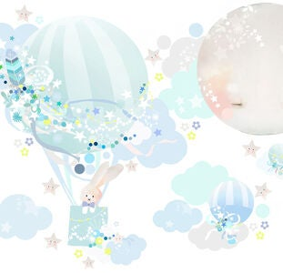 Schmooks Wallsticker Hot Air, Blue
