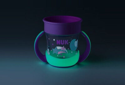 NUK Evolution Mini Magic Glow In The Dark Becher, Rosa