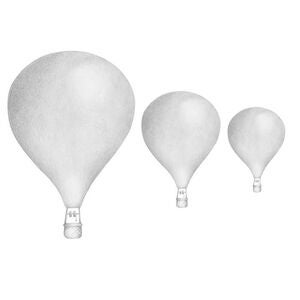 Stickstay Wallsticker Balloon Set Light Grey