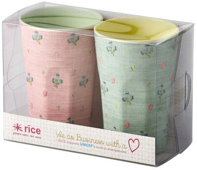 Rice Becher 2er- Pack, Gemustert