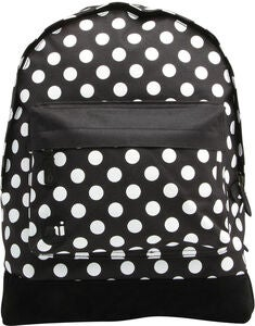 Mi-Pac All Polka Rucksack, Black/White