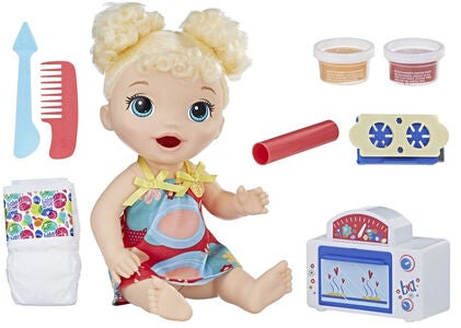 Baby Alive Snackin Baby Puppe Blond