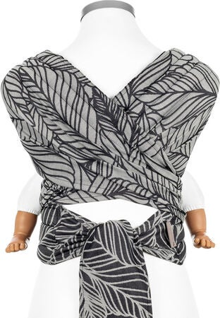 Fidella Fly Tai Tragetuch Baby Dancing Leaves, Black&White