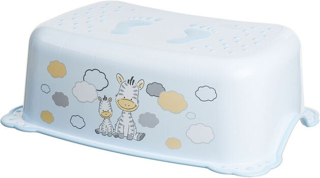 Maltex Rutschfester Hocker Zebra, Light Blue