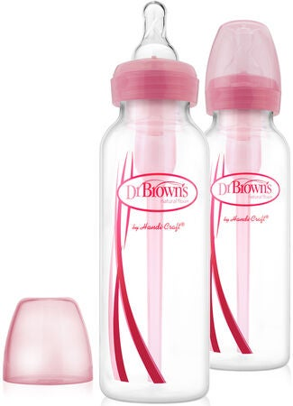 Dr Brown's Babyflasche 250 ml 2er-Pack, Rosa