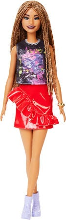 Barbie Fashionistas Puppe 123 Rock And Red