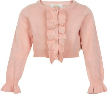 Creamie Structure Strickjacke, Crystal Pink