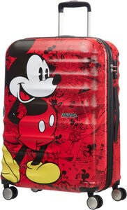 American Tourister Disney Micky Maus Trolley, Rot 64L