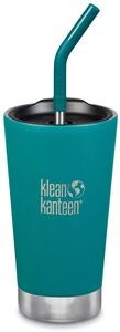Klean Kanteen Insulated Tumbler Mit Trinkhalmdeckel 473ml, Emerald Bay