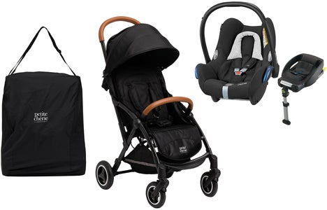 Petite Chérie Avion Air 2020 inkl. Maxi-Cosi Travelsystem & Travelbag, Carbon Black Melange