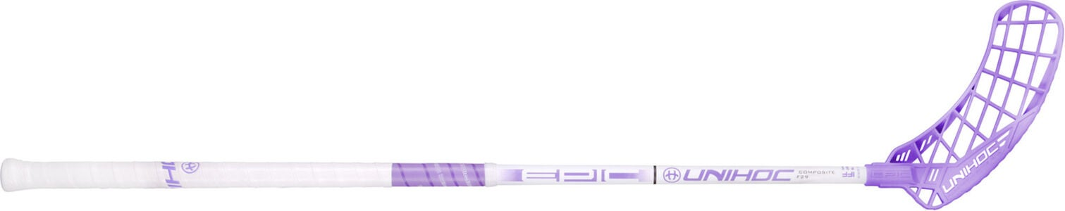 Unihoc EPIC Composite 29 Unihockeyschläger Links, White/Purple