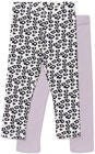 Luca & Lola Alberta ¾ Leggings 2er-Pack, Purple/White