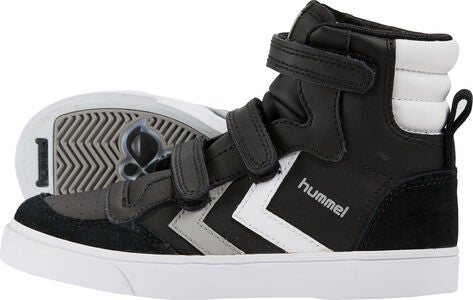 Hummel Stadil Jr Leather High Sneaker, Schwarz/Weiß/Grau